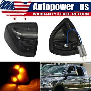 Smoked Amber LED Side Mirror Turn Signal Lights FOR Dodge Ram 1500 2500 3500 10