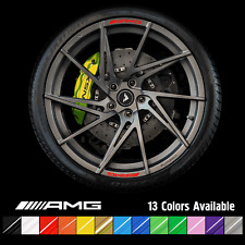 8 Mercedes AMG Rims Alloy Wheels Curved Decals Stickers A C E CLA Class A45 C63