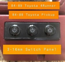 Toyota  4Runner (84-89) Pickups (84-88) 3 Gang Push Button Switch Panel Plate