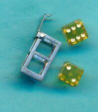 Vintage 1940's Sterling Silver Green Lucite Opening GALLOPING DOMINOES Charm
