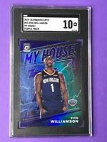2019-20 Optic Zion Williamson Purple Holo My House SGC 10 GEM Mint #15 RC 🔥