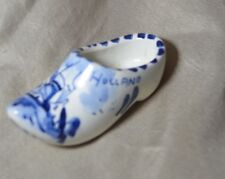 Vintage Delft Miniature Shoe Holland