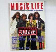 Japan Rock Music Magazine MUSIC LIFE Nov.1995 QUEEN, BonJovi, Van Halen