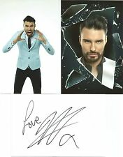 BIG BROTHER & X FACTOR* RYLAN CLARK SIGNED 6x4 WHITECARD+2 UNSIGNED PHOTOS+COA