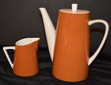 VTG Ironstone Porcelain Coffee Pot & Creamer HARMONY HOUSE HARVEST 4262
