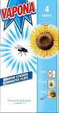 4 Vapona Sunflower Window Stickers Eliminates Flies Fly Sticker Pest Control