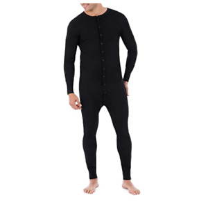 Fruit of the Loom Men's Premium Thermal Union Suit Black Size XL/XXL     --A18--