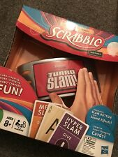 SCRABBLE Electronic TURBO SLAM Game Hasbro Family Fun New Boxed