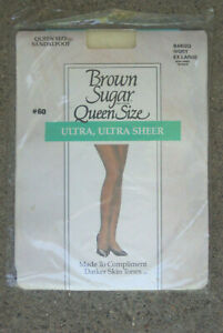 Brown Sugar L'Eggs Queen Size Ultra Ultra Sheer Control Top Pantyhose Ivory NEW