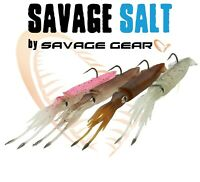 New Savage Gear 3D SWIM SQUID Sea Fishing Lures Baits 2Pcs Pack Cod Wrasse Bass