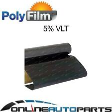 Window Tint Film 5% Limo Black Metalized 50cm x 6m Roll Glass Car Home Office