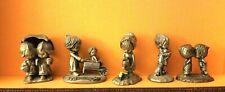 5 Hallmark Betsey Clark Little Gallery Pewter Miniatures Friendship Kitties Etc.