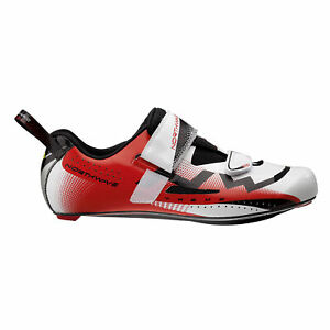 Northwave Extreme Men's Triathlon Road Cycling Shoes White/Red EU 42