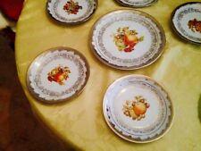 Servizio piatti antico 1800 collezione in porcellana argento vittoriano provenza