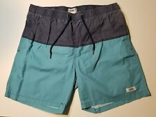 Trunks Surf & Swim Co Blue Panel Swim Trunks - Beach/Street Style - Large