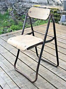Rare Chaise pliante N°1 Bienaise /1er modèle  / frères  Nelson 1920 / industriel