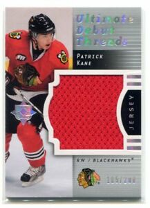 2007 Ultimate Collection Patrick Kane Debut Threads RC 185/200