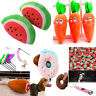 Pet Chew Squeaky Plush Sound Pillow Donut Carrot Dog Cat Play Trainning Toys