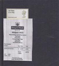 GB 2015  Post & Go Frama MIDPEX no oprint Machin Head single1st class stamp A6