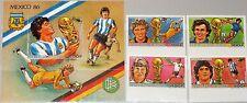 GUINEA 1986 1134-37 Block 240 B 1017-1021 Soccer World Cup Mexico Fußball WM MNH