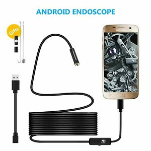 Waterproof USB Endoscope Borescope Snake Inspection Camera Android Mobile Phone