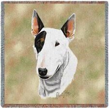 """""""Bull Terrier"""" Tapestry Throw, 54""""x54"""",Robert May, Pure Country Weaver's"""