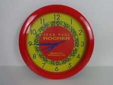Beauticians Wall Clock Round Advertising Battery Operated Jean Paul Rocher Red