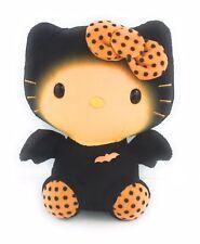 "Hello Kitty Halloween Plush Ty Sanrio Black Orange Bat Polka Dots Airbrushed 6"""