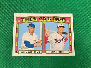 2021 Topps Heritage Then and Now #TN14 Billy Williams Juan Soto Chicago Cubs