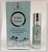 White Flower by Khalis Floral Jasmine Musk Perfume Oil 6ml Roll On Single Bottle