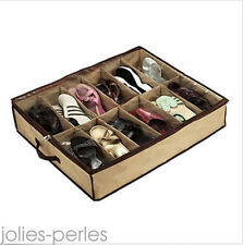 12 Pairs Vogue Shoes Storage Organizer Holder Container Under Bed Closet Box Bag