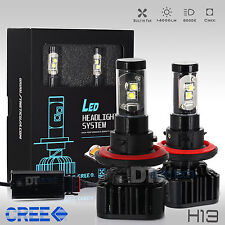 H13 80W 8000LM CREE LED Headlight Conversion Kit High/Low Beam Bulbs 6000K White