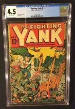 FIGHTING YANK #9 Comic Book CGC 4.5 NEDOR Golden Age 1944 WW II SCHOMBURG Cover