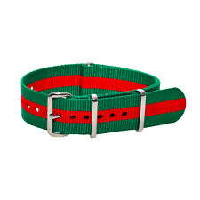 18mm Bond Strap Green with Red Strip MWC - NEW