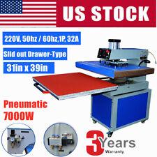 31x39 Pneumatic Drawer Type Large Format Tshirt Sublimation Heat Press Machine