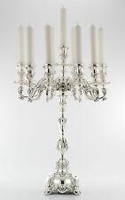 Paio Palazzo Jumbo Supporto candela Magnifici lampadari Argento 925 90cm alta