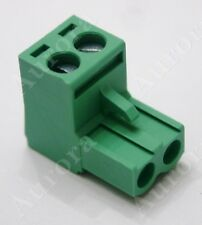 2 Pin - 5.0mm/5.08mm Green / Phoenix Plug - Pluggable Connector - Terminal Block