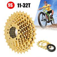 9 Fach Fahrrad Zahnkranz 11-32 Zähne Steckkranz Ritzel Kettenschaltung Gold D