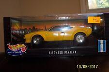 1:18 Die Cast Hot Wheels DeTomaso Pantera yellow #27809 mint in box & HTF