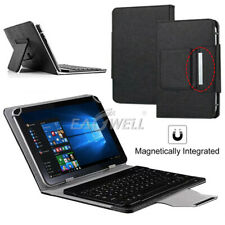 """For 7"""" 8"""" 10"""" 10.1"""" Tablets Black PU Leather Case Bluetooth Keyboard Stand Cover"""