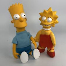 Vtg Bart and Lisa Simpson Plush 1990 The Simpsons Matt Groening