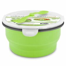 Smart Planet Eco Collapsible Salad Bowl, 64 oz, Green Easy Storage Portability
