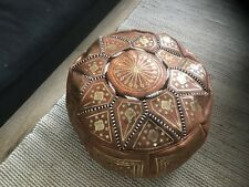 Beautiful Moroccan Leather Pouf Pouffe Footstool  Ottoman or use as Coffee Table