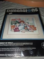 Family of Dolls Counted Cross Stitch Kit new 1988