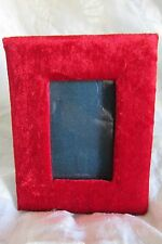 PRETTY ANTIQUE FRENCH NAPOLEON III RED VELVET PHOTOGRAPH PICTURE FRAME c1890
