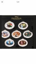 D23 Expo 2017 Designer Ornament Set 7 Moana Mermaid Pinocchio etc LE 300