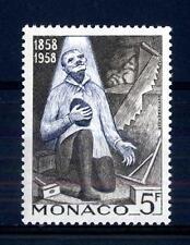 """MONACO - 1958 - Centenario delle apparizioni di Lourdes - 5 f. """"Un miracolo"""""""