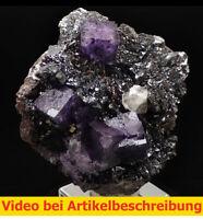 7549 Fluorit Sphalerit Calcit ca6*15*14 cm Elmwood Mine 1998 USA Tennessee MOVIE