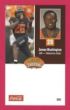 JAMES WASHINGTON 2018 REESE'S SENIOR BOWL OKLAHOMA STATE COWBOYS RC ROOKIE CARD