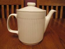 Lovely Johnson Brothers Athena White Ribbed Teapot Made In England
